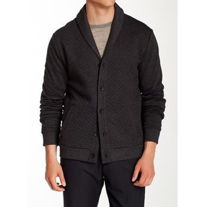 Perry Ellis cotton quilted shawl collar cardigan